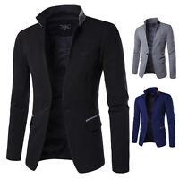Mens Blazer Jacket Formal Smart Luxury Fashion Design Longsleeve Slim Fit