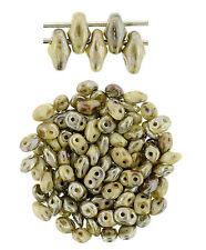 10g SuperDuo 2 Hole Czech Glass Seed Beads 2x5mm Apollo * Nebula * Halo * Magic
