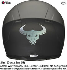 BULL HEAD Motorbike Helmet Sticker Car Decal 100mm x 80mm-