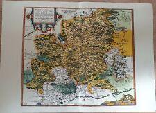 Landkarte map: Wirtenberg. Ducatus zeigt das Herzogtum Württemberg.