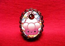 KAWAII CUPCAKE RING ROCKABILLY PSYCHOBILLY EMO