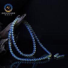 AAAAA Dominican Sky Blue Amber Bead Bracelet - 12mm / 108Beads