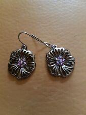 Accessorize Purple Flower Drop Dangle Earrings