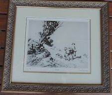 "Lionel Lindsay Limited edition print ""Mates"" Australian icon"
