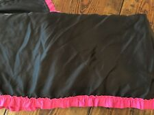 Candie's Dust Ruffle Queen Black Pink Ruffle Bed Skirt