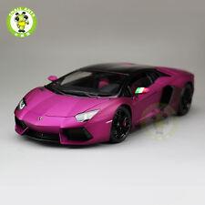 1:18 Lamborghini Aventador LP700-4 Diecast Welly FX Model 18041 Matte Purple
