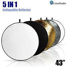 "LimoStudio Portable MultiDisc Photography 43""Reflector 5in1 Circular Collapsible"