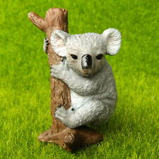 Koala Bear Climbing Tree Fairy Garden Terrarium Shelf Decor Animal Figurine Toy
