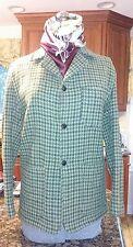 vtg 60's 70's LL BEAN HOUNDSTOOTH blazer jacket SMALL green wool -GUC