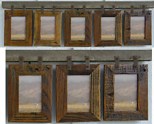 "Barn Wood Rustic Collage Picture Frames For (5) 4"" x 6"" and (3) 4x6 Photos"