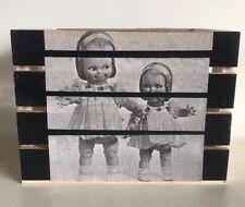 Vintage Baby Doll Photos BOX Creepy Eyes Halloween Scary Girls Dress