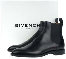 NEW GIVENCHY MEN'S CURRENT BLACK LEATHER STAR PATCH CHELSEA BOOTS SHOES 41/8