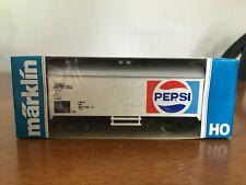 Marklin HO #4419 r/w/b colored Box-Car, Pepsi in its Original Box West Germany