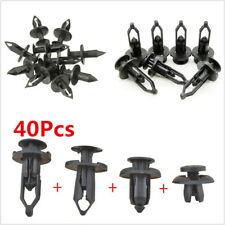 40 Pcs/Bag Plastic Car Truck Autos Bumper Push Pin Rivet Retainer Trim Clips Kit