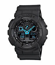 New G-Shock GA100C-8A Men's Analog Digital X Large Black/ blue G Shock Watch