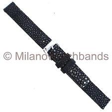 12mm Speidel Genuine Sting Ray Dark & Light Gray W/ Square Tip Ladies Watch Band