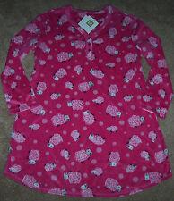 NWT Karen Neuburger Pink Black SHEEP Fleece Nightgown Pajamas Ladies S COZY