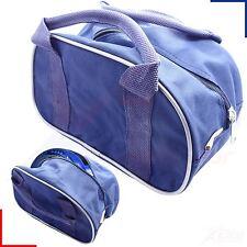 2 Bowls Carrier Holdall Short Handle Bowl Carry Bag - Blue