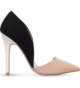 Kurt Geiger Nude/Black High Heel Court Shoe UK 5 EU 38 JS092 II 07
