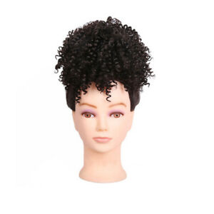 Afro Kinky Curly Ponytail Puff Bun Drawstring Clip on Updo Cover Synthetic Hair