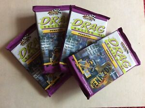 1994 ACTION PACKED DRAG RACING LOT OF 4 UNOPENED PACKS  R101157
