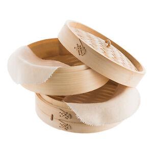 Reishunger Bambusdämpfer (3-teilig, 20cm) Bamboo Steamer / Reis Dämpfer