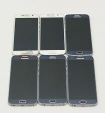 Lot of 6 - Samsung Galaxy S6 G920T Unlocked T-Mobile GSM Android Smartphone 32GB