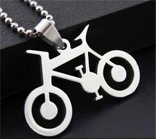 collar para Hombre moda acero inoxidable titanio Bicicleta colgante Regalo plata