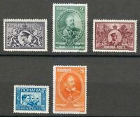 Romania 1931 MNH Mi 397-401 Sc 384-388 50th anniversary of Romanian Kingdom ***