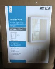 """Style Selections Bath White Medicine Cabinet SurfaceMount 19.25""""x15.25"""" #0113320"""