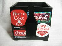 Coca-Cola Wood Memo Cube - CLEAN Used - Cool Coke Collectible