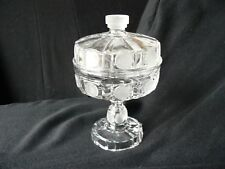 "7U.S. Coin 6"" covered compote EAPG"