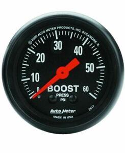 "AutoMeter 2617 Gauge, Boost, 2 1/16"", 60psi, Mechanical, Z Series"