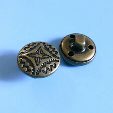 15 Metal Anitque Dark Brass Shirt Pants Sew On Sewing Buttons 15mm 24L G224