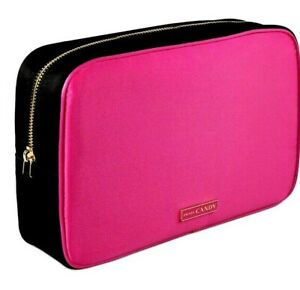 Prada Bag Pouch Makeup Cosmetic Bag Vanity Case Candy Perfume Pink/Gold RARE NEW