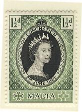 MALTA 1953 CORONATION BLOCK OF 4 MNH