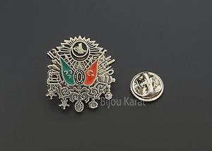Osmanli Armasi Rozeti Rozet Anstecknadel Türkei Osmanischer Reich Wappen Silber
