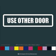 Use Other Door sticker decal sign door window office business restaurant kitchen
