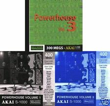 Akai s-1000, Power House Vol. 1, 2 & 3  CD ROMs s-3000