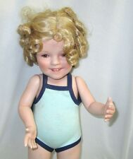Shirley Temple Bathing Beauty Toddler Doll Danbury Mint 17 Inches Tall Porcelain