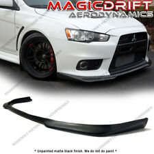 For 08-15 Mitsubishi Evolution EVO X 10 Ralliart Style Front Bumper Lip Spoiler