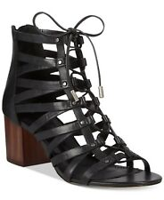 ALDO Designer Black Women's Myssi Lace-up Block-heel Sandals, size 8.5
