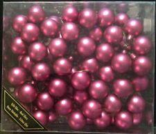 Christbaum Kugeln 72 x 30 mm violett Glas Tannen Baum Schmuck Weihnachts Baum