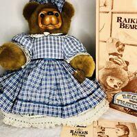 "Robert Raikes Bear Becky Thatcher 18"" Vintage Box COA Tag 1992 Limited Edition"