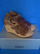 Gabor Theme II Copper Leather Gladiator Style Wedge Sandal in Box Size 3.5