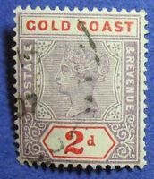 1902 GOLD COAST 2d SCOTT# 28 S.G.# 27b USED CS08291