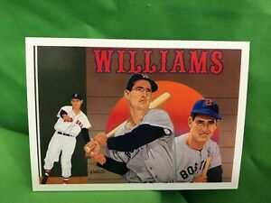 TED WILLIAMS 1992 Upper Deck Heroes Card, #36, Footer card, checklist