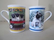 2 Purely Pugs Collector Mugs/Cups The Danbury Mint (Lot 6)