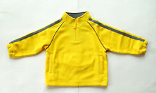 GYMBOREE Tractor Company Yellow Fleece Pullon Zip Jacket 3 NEW