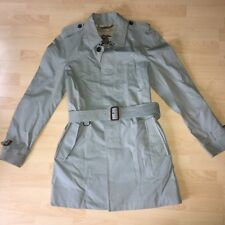 Burberry Prorsum Single Breasted Grey Trench Rain Coat Jacket Mens IT 52 Large L